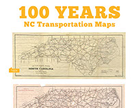100 Years of NC Transportation Maps