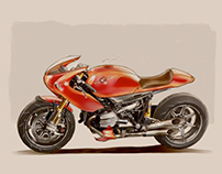 BMW R90S cafe racer render