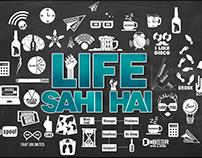 LIFE SAHI HAI LOGO DESIGN