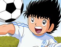 captain tsubasa رسم بالفوتوشوب