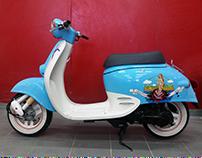 Проект So Retro по перекраске скутера Honda Giorno