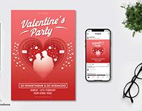 (Freebie) Valentine s Party Flyer