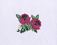 Pretty Pink Flowers Machine Embroidery Design