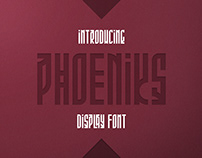 Phoeniks - Display Font | Free font, freebie