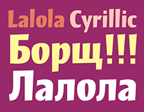 Lalola typeface also in Cyrillic