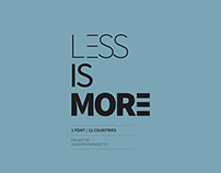 LESS IS MORE // EUROPE