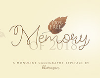 Full Free 100% - Memory of 2018 Font - Commercial Use