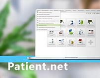 "Redesign ""Patient.NET"" (medical information web-system)"