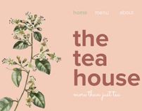 the tea house minimalist website