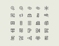 Digital Marketing Line Vector Icons