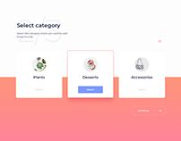 Day 880 • Select Category UI Design