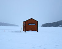 ice houses, fish huts, bob houses