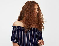 Striped Blouse Pull and Bear SS'17
