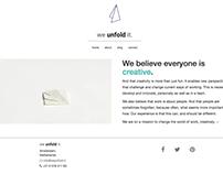 Webdesign for Unfold