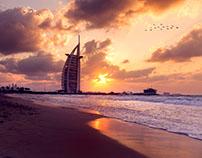 Burj Al Arab Sun Set Long Exposure