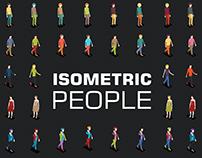 Isometric 3d People