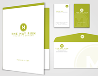The May Firm Logo and Stationary Design