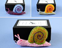 Soft Shell Snails Brooches