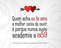 Campanha Dia dos Namorados Academia Aqualita