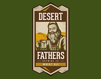 DESERT FATHERS LOGO DESIGN + BEER PACKAGING DESIGN