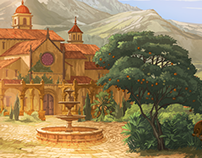 Broken Sword: the Serpent's Curse Backgrounds.