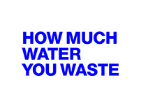 HOW MUCH WATER YOU WASTE campaign