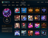League of Legends Summoner Icon Page Redesign