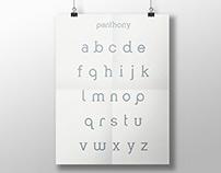 Panthony Typeface, A Custom Font