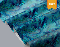 Free Beautiful Fabric Mockup PSD