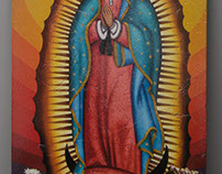 Virgin Mary on Tiles