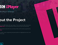 Concept design BBC Player Radio One