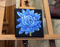 Blue Flower - oil painting