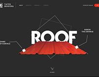 Roofing Website Mockup