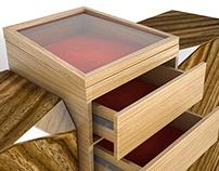 Wooden jewelry stand dresser