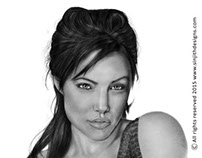 Angelina jolie - Realistic pencil drawing
