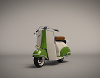 Low Poly Vespa 04