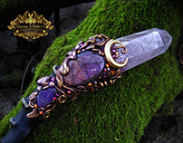 QUEEN TITANIA Amethyst Quartz Crystal Wand