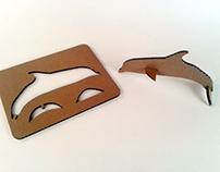 Kartonowe zwierzaki  - delfin/ Cardboard toys – dolphin