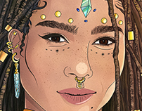 Zoe Kravitz Illustration