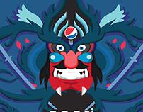 Rótulo Pepsi