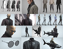 Marvelous Designer - Mens Clothing Collection 4 ITEMS