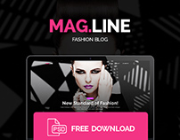 MagLine - Magazine & Fashion Blog (Free PSD)