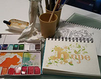 Hope - design creation & watercolor