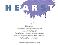 Invitation for Art/Eat Luncheon at the Whitney Museum