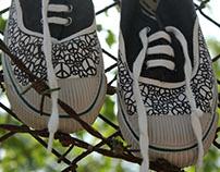 I Peace I Hand Painted Shoes I