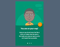 Character Illustration + Android UI design