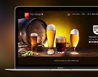 Hot beverage shop landing page design