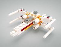 3D mini Lego X-Wing