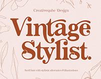 Vintage Stylist Font + Florals