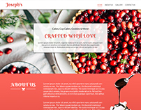 joseph's bakery home page design